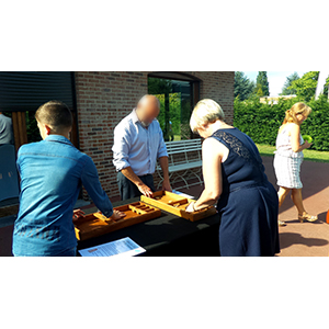 Communion de Celia à Wattrelos - Les parents jouent au Passe-trape et au Billard Hollandais